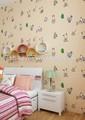 De dibujos animados para los niños no- tejido de flores para papel pintado de las paredes del dormitorio