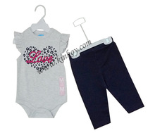 new design 100% cotton 1 year old baby clothes