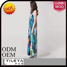 caliente de la moda de longitud completa kaftan vestido de maxi