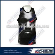 custom mens team basketball tops/singlet