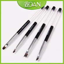 BQAN Design Cystal Rhinestone Handle Salon Use Nail Art Deign French Nails Nylon Nail Brush Art