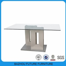 Philippine popular dining room glass dining table set and chair