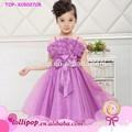 vendita calda bella dolce bambino vestito le foto per il bambino con il fiore ragazza