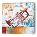 Bar decoração instrumentos musicais pintura a óleo