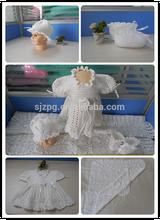 100% pamuk moda yeni doğan tığ bebek hediye seti bebek giysileri