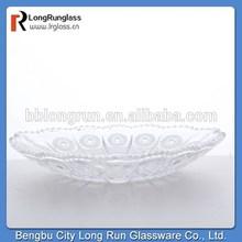 LongRun wedding decoration whole sale glass candy plate with beautidul pattern