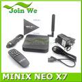 Minix neo x7 rk 3188 dört çekirdekli andriod 4.2 tv kutusu a9 1.6 GHz 2gb ram 16gb flash rj45 minix x7