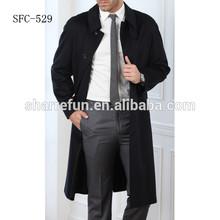 men wool full-length coat