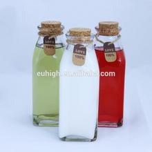 350ml glass milk bottle with cork, glass water bottle, glass juice bottle
