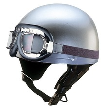 Half Face Motorcycle Helmet N-10G with Goggle