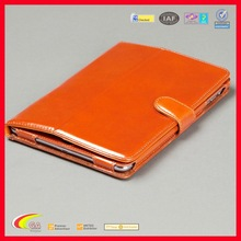 2015 New Design Luxury PU Leather Folio for Retina iPad Mini Case