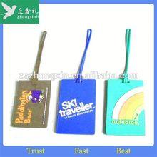 soft PVC luggage tag/travel soft pvc luggage tag, customized soft PVC bag tag