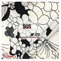 polyester tricot jersey tissu en fibre de lait avec des fleurs pour les gros vêtements chinois