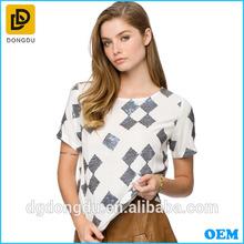 100% Cotton latest sequins t shirt China wholesale custom t shirt design