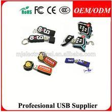 kinds of monster shape pvc usb pen drive wholesale , custom pvc bus usb flash drives