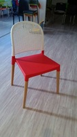 high back woven rattan chair Model XRB-070-A