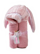 velour hooded Bath Towels with bunny ears