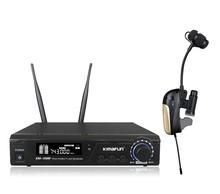 100m reciever distance 10mW wireless microphone for trumpet,& trombone & tubar