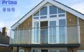 De acero inoxidable de diseño de balcón/balcón ss304/316 barandilla de diseño/vidrio balcón montaje