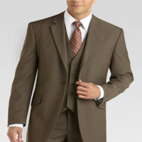 New 2014 Top Brand Three Pieces One Buttons Coat Pant Mens Vest Suit