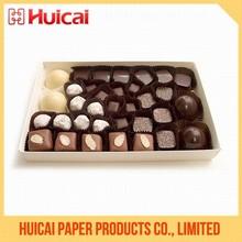 Food grade rigid cardboard custom design chocolate packing box