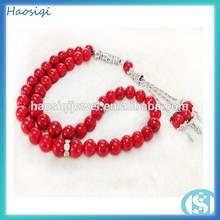 Red Turquoise Islamic muslim tasbih prayer beads
