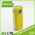 6600 mah de capacidad, batería de litio, universal de teléfono móvil portátil banco de potencia con la linterna led