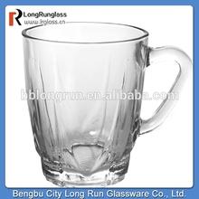 LongRun manufacturer elegant transparent glass mug grace tea ware