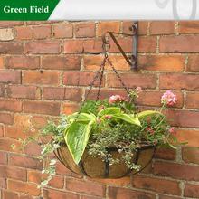 Green Field Metal Hanging Garden Baskets