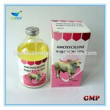 Antibiotic medicine amoxicillin injection 15% for animal
