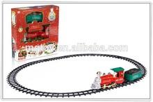 Newly B/O Christmas smoking rail train with music and light Christmas toy