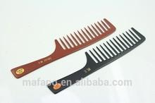 Dentes largos pente de osso para peruca de cabelo