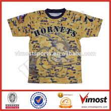 free custom lacrosse shirt /sublimation 100% polyester