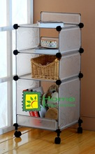 Plastic PP cube storage boxes , clear practical cubic storage shelf