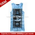 venta al por mayor de la juventud camisas sin mangas de venta superior de algodón hombre del tinte en forma seca sin mangas