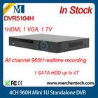 in stock cheapest dahua hot sale dvr DVR5104H 4CH 960H Mini 1U Standalone DVR