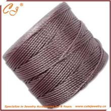 Вязание крючком кос superlon плетеный ожерелье шнуры, Нейлон шнур для одежды оптовая продажа