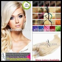 Qingdao Miss Baoli 100% Remy Human Hair Tangling Shedding Free 22 Inch Micro Braiding Hair