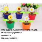 Hot Sale 2014 Promotional flowerpot Solar dancing Flowers For Wholesale