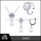 Stylish engagement pearl royal jewelry set