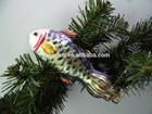 2014 new fish design, glass christmas ornament,christmas decoration