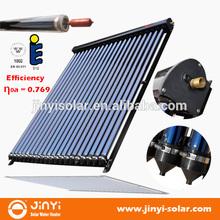 Solar Keymark Heat Pipe Vacuum Tube Solar Collector 10,12,15,18,20,24,30 Tubes