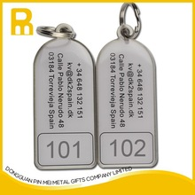 2015 delicated serial id number metal printing key tags for promotion /2015 key fobs