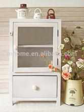 Vintage industry wooden cabinet with door for living roon