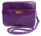 Elegant Purple Crocodile Pattern PVC Leather tablet pouch / tablet sleeve