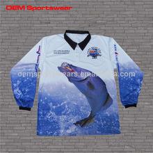 Fishing clothing wholesale long sleeve tournament fishing jersey