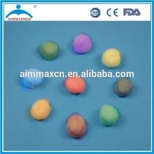 water absorbing balls medical absorbent color cotton balls