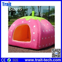 Sweet Rose Strawberry Style Design Pet Dog /Cat/ Rabbit Bed Indoor House Kennel