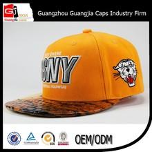 Guangzhou Factory Hip-pop Flat Brim Snapback Cap/Design Your Own Cap And Hat