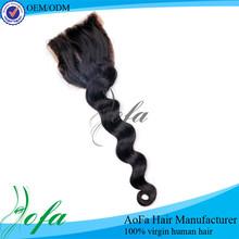 1 bunlde indian 100% virgin hair bundles with lace closure